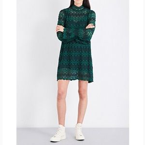 Free People Green Lace Dress